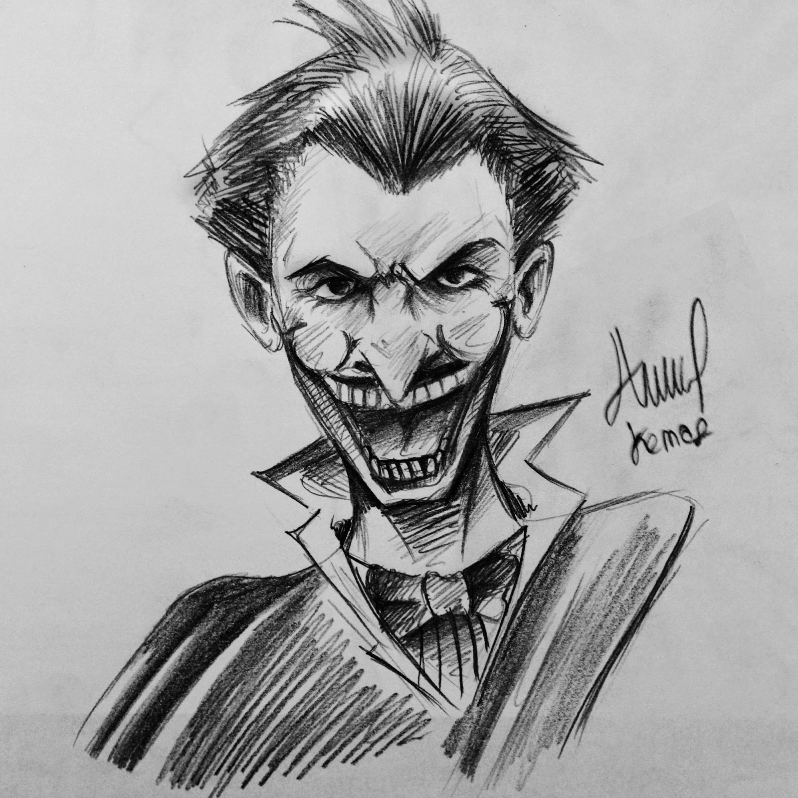 Sketsa Gambar Joker