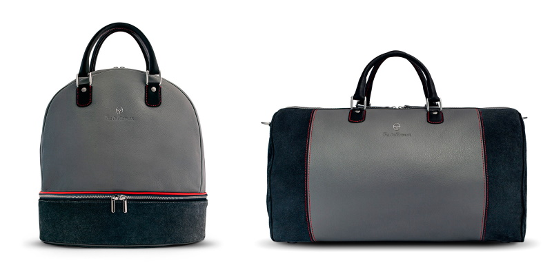 The Monza Collection: Bespoke Weekender and Helmet Bag