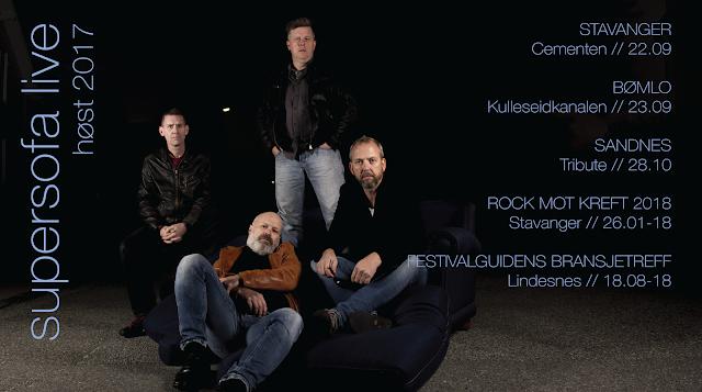 21.09 2017:  Lukket arrangement, Stavanger.  22.09 2017:  Cementen, Stavanger.  23.09 2017:  Kulleseidkanalen Gjestehamn, Finnås, Bømlo.  02.10 2017:  Viste Hotell, Randaberg.  28.10 2017:  Sandnes Rockeklubb Tribute, Sandnes.  26.01 2018:  Rock Mot Kreft, De røde sjøhus, Stavanger.  18.07 2018:  Festivalguidens Bransjetreff, Lindesnes.
