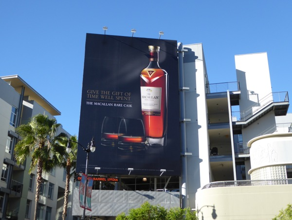 Give gift of time well spent Macallan billboard
