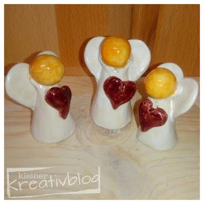 https://www.kleiner-kreativblog.de Keramik-Engel