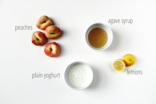 Ingredients for Peach Frozen Yoghurt