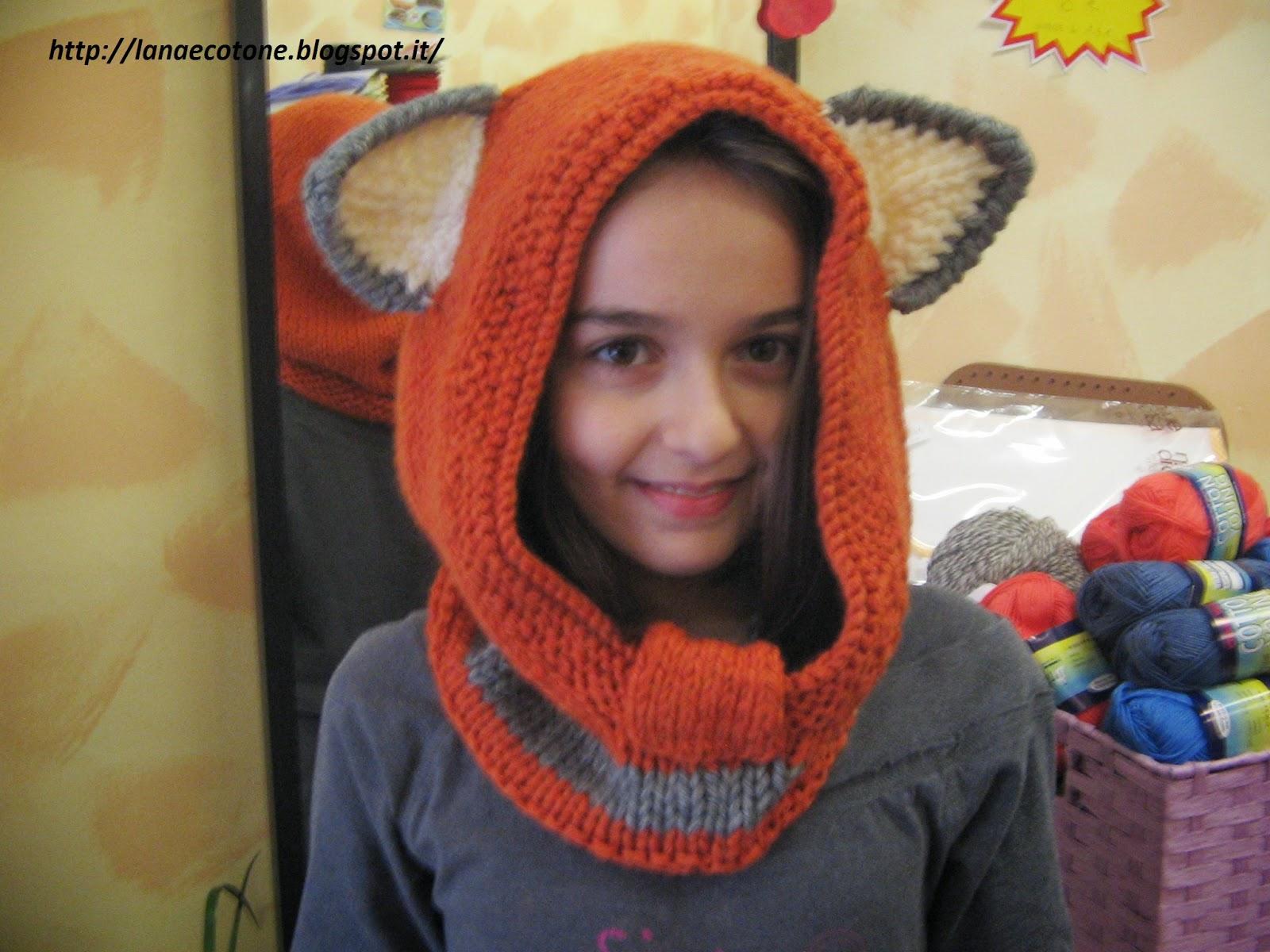 migliore tra qualche giorno colore n brillante Lana e Cotone (maglia e uncinetto): Cappello volpe
