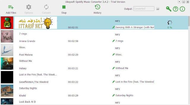 تحميل برنامج تحميل أغاني وموسيقى سبوتيفاي UkeySoft Spotify Music Converter