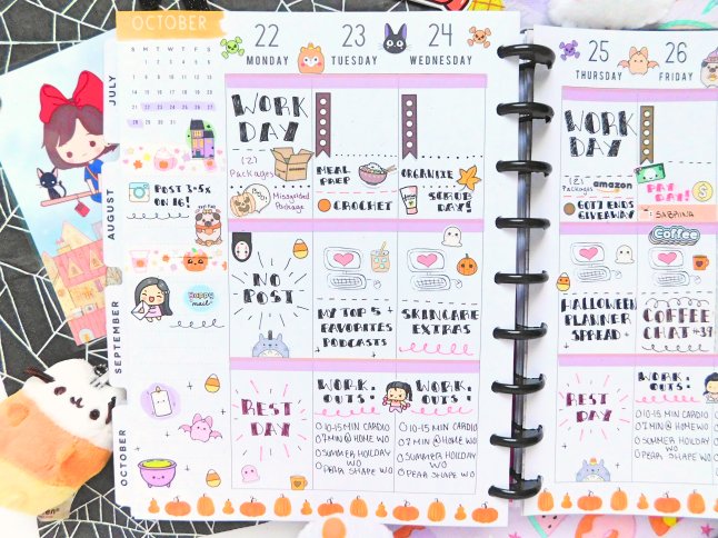 Autumn/Halloween Planner Spread