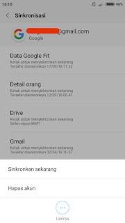 Cara menghapus akun google di hp xiaomi + gambar