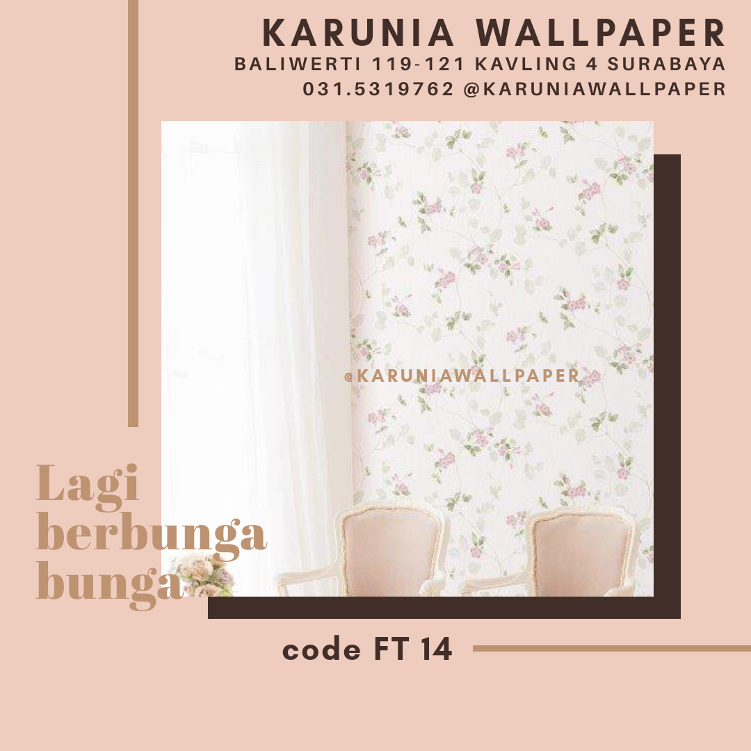 toko jual dinding bunga bunga