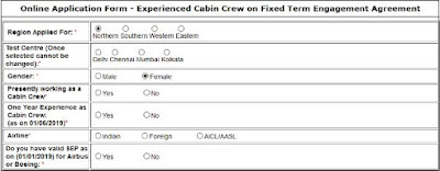 How to apply for the post of cabin crew in Air India