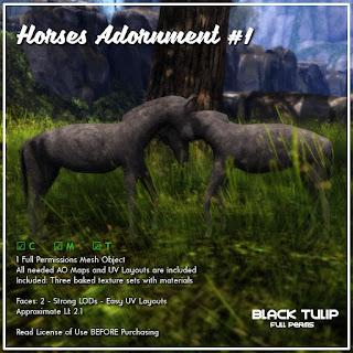 [Black Tulip] Mesh - Horses Adornment #1