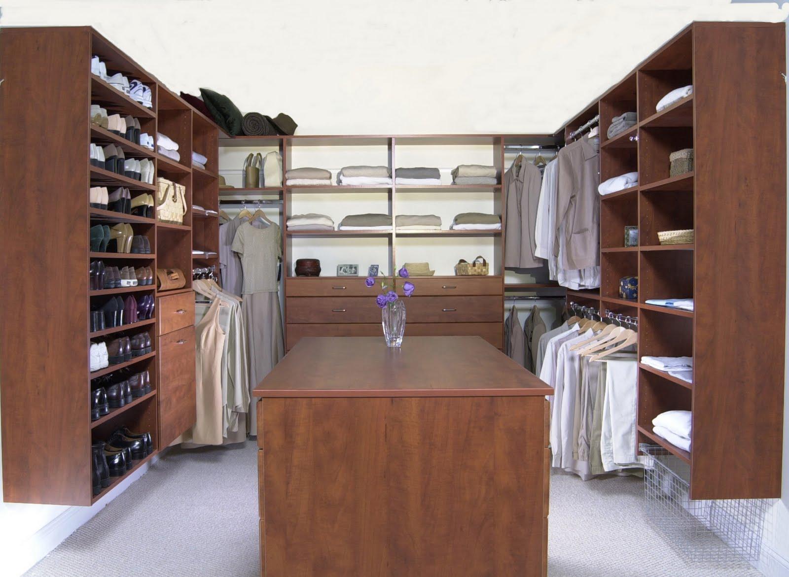 Large Walk In Closet Organization