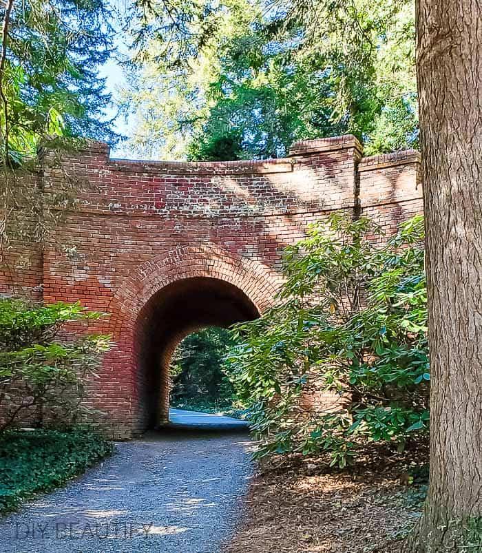 brick tunnel and bridge at Biltmore