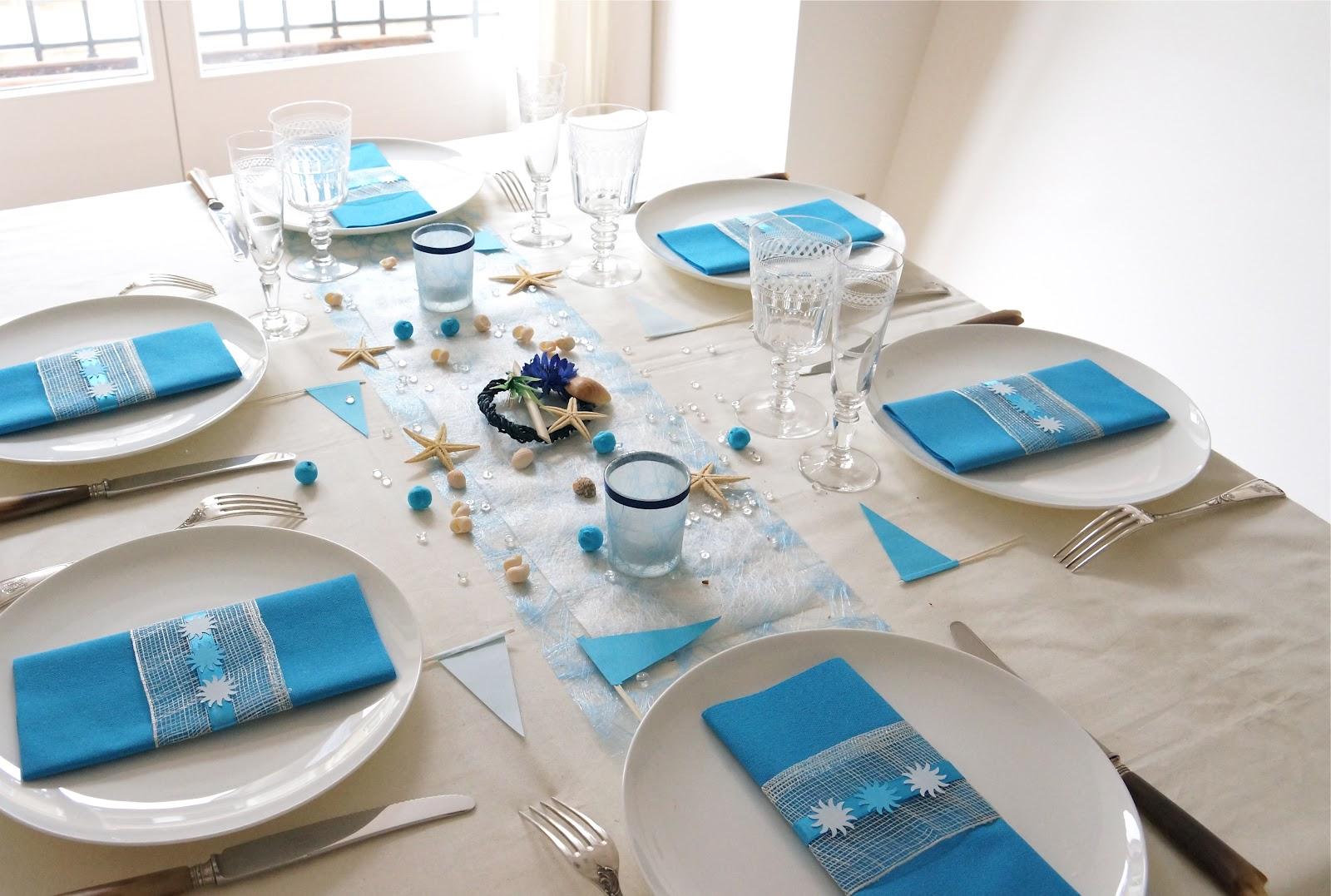 decoration de table bord de mer. Black Bedroom Furniture Sets. Home Design Ideas