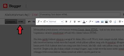 menu format pada blog