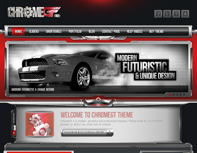 ChromeGt Red Blogger Template