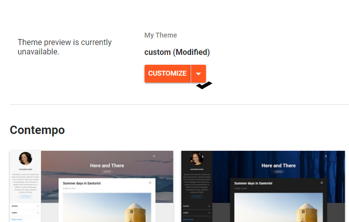 Blogger Theme Section Adding New Template