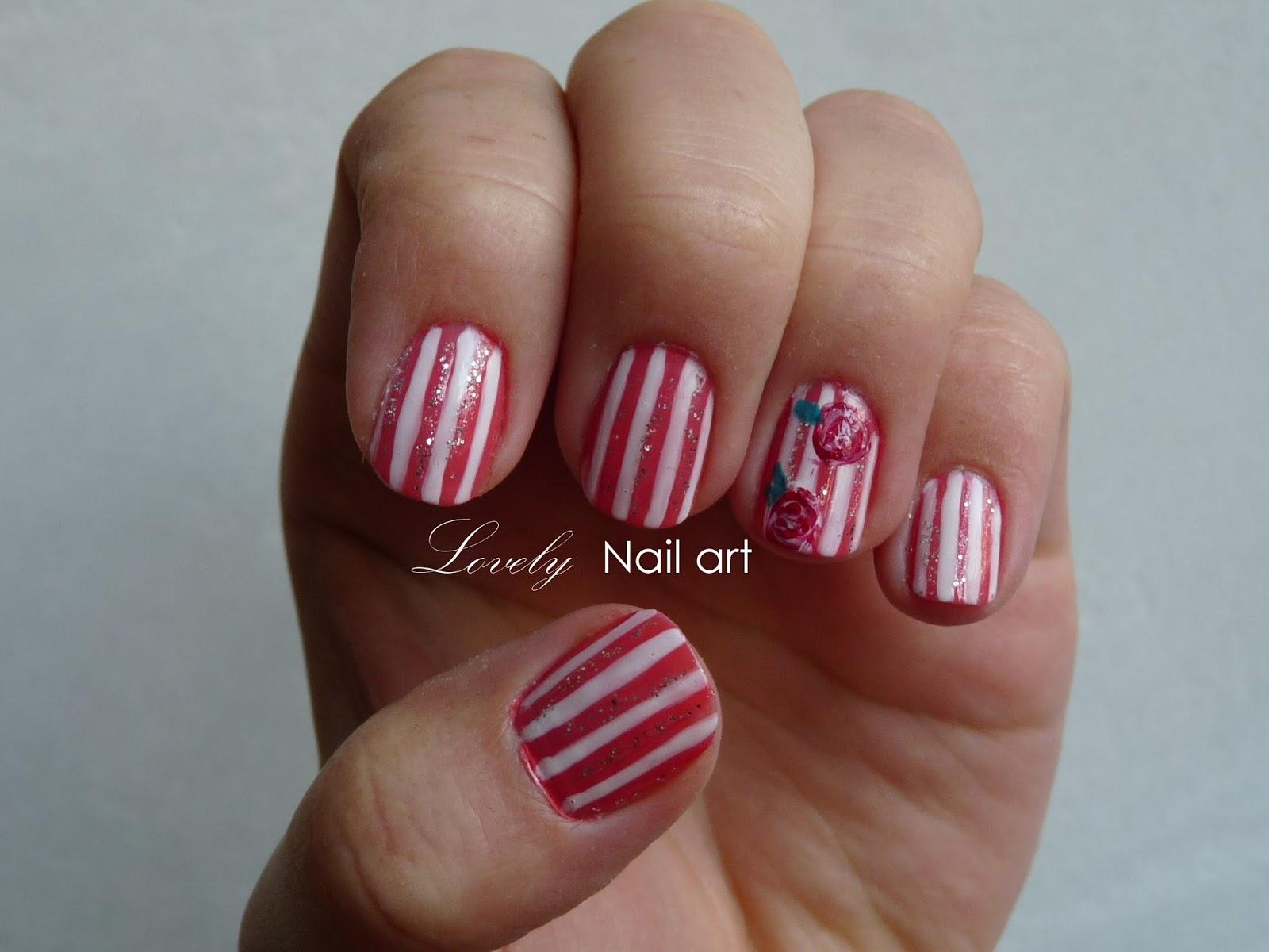 August Nail Art: Lovely Nail Art: August 2013