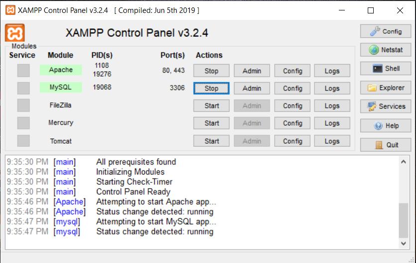 MySQL Or Apache Can't Start On Xampp