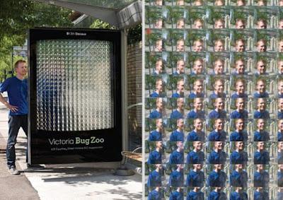 Publicidad creativa en parada de autubus