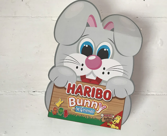 Haribo Easter sweets in a grey bunny shaped box