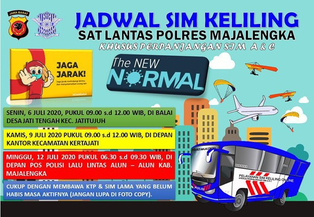 Jadwal SIM Keliling Majalengka Juli 2020-IGsatlantasmjlk