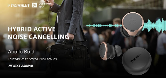 """مراجعة سماعات Tronsmart Apollo Bold المنافس الجديد في سوق السماعات اللاسلكية التي تأتي بتقنية """"Active Noise Cancellation"""""""