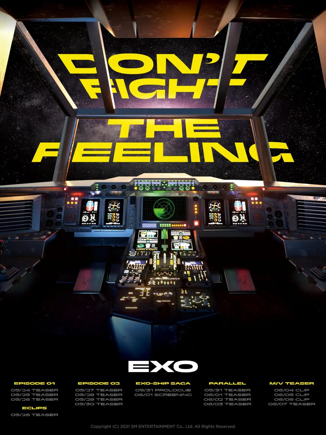 EXO Finally Announces Comeback Schedule With 'DON'T FIGHT THE FEELING'