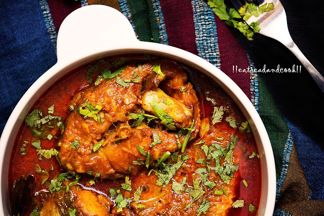easy and simple bengali fish kalia with coconut milk / narkel dudh diye macher kalia bengali recipe and preparation with step by step pictures