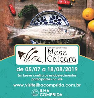 Turismo prorrogou até 25 de junho o prazo para inscrições   do II Festival Gastronômico Mesa Caiçara