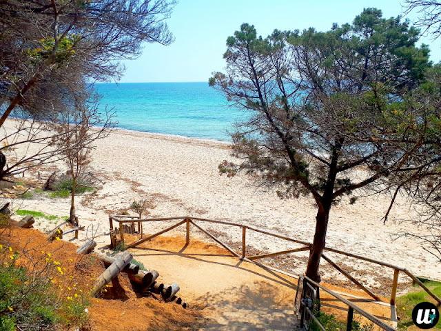 Pula beach entrance | Sardinia, Italy | wayamaya