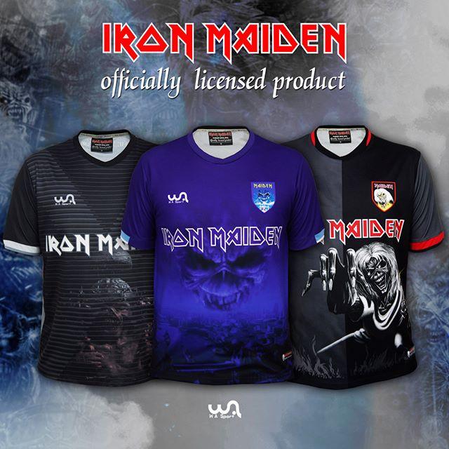 WA Sport lança mais três modelos das camisas de futebol do Iron Maiden