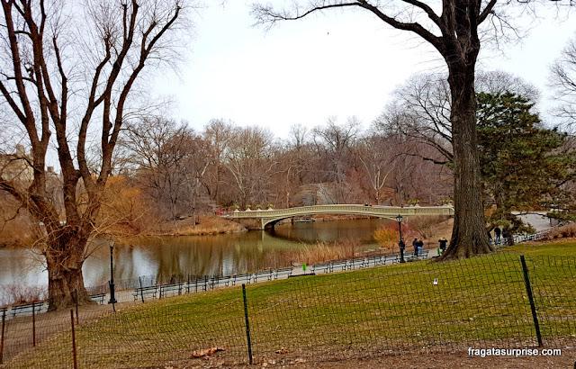 Bow Bridge, ponte sobre o Lago do Central Park, Nova York