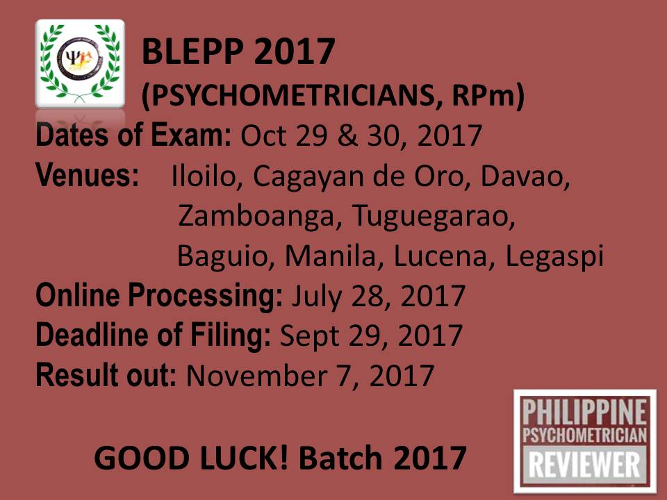 philippine psychometricians licensure exam reviewer