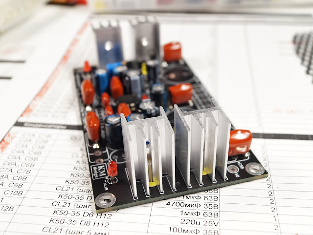 Сборка набора усилителя для наушников на OPA2134. Установка радиаторов