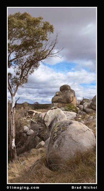 Pejar Creek NSW, Landscape pic with Rocks and Tree crop 2