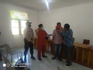 1100 Masker di bagikan Pemdes Desa Penuba kepada Masyarakatnya