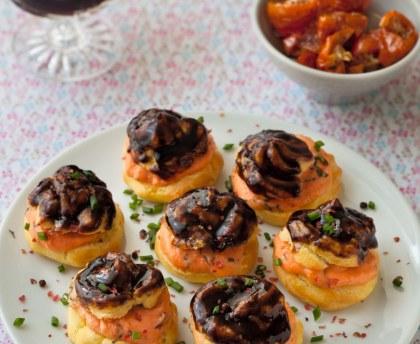 Basil garlic tomato cream cabbage, balsamic glazed