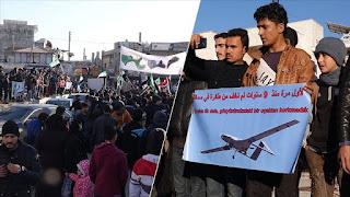 سوريون في إدلب: لأول مرة نرى مقاتلات في الجو ولا نخشاها (فيديو)