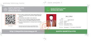 login simpatika dan cetak kartu PTK