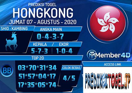 Prediksi Member4D HK Jumat 07 Agustus 2020