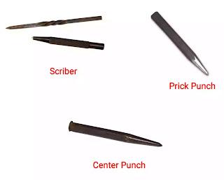 marking tools in workshop