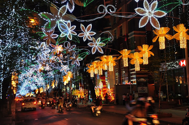 A lot of preparation for Christmas in Vietnam