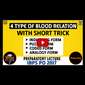 Master Class | 4 Types Of Blood Relation | Reasoning | Preparation Class 7 | IBPS PO 2017