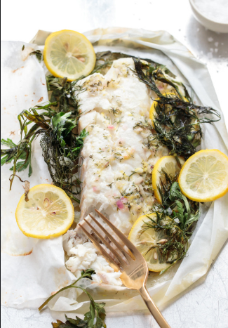 Fennel Trout en Papillote with Herbs