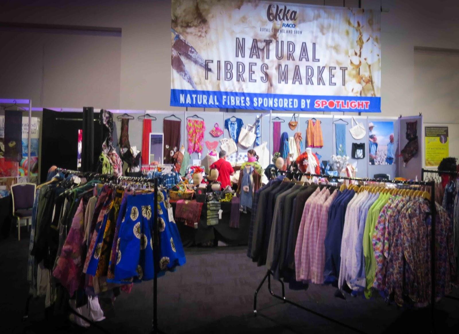 ekka natural fibres market  recycled art  millinery