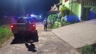 Pantau Sitkamtibmas Personil Polsek Curio Galakkan Patroli Blue Light Cegah Kejahatan Malam