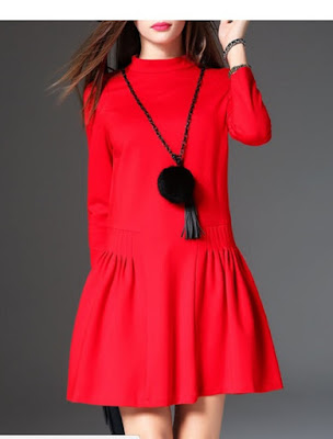 https://www.stylewe.com/product/red-gathered-casual-stand-collar-mini-dress-with-necklace-71578.html