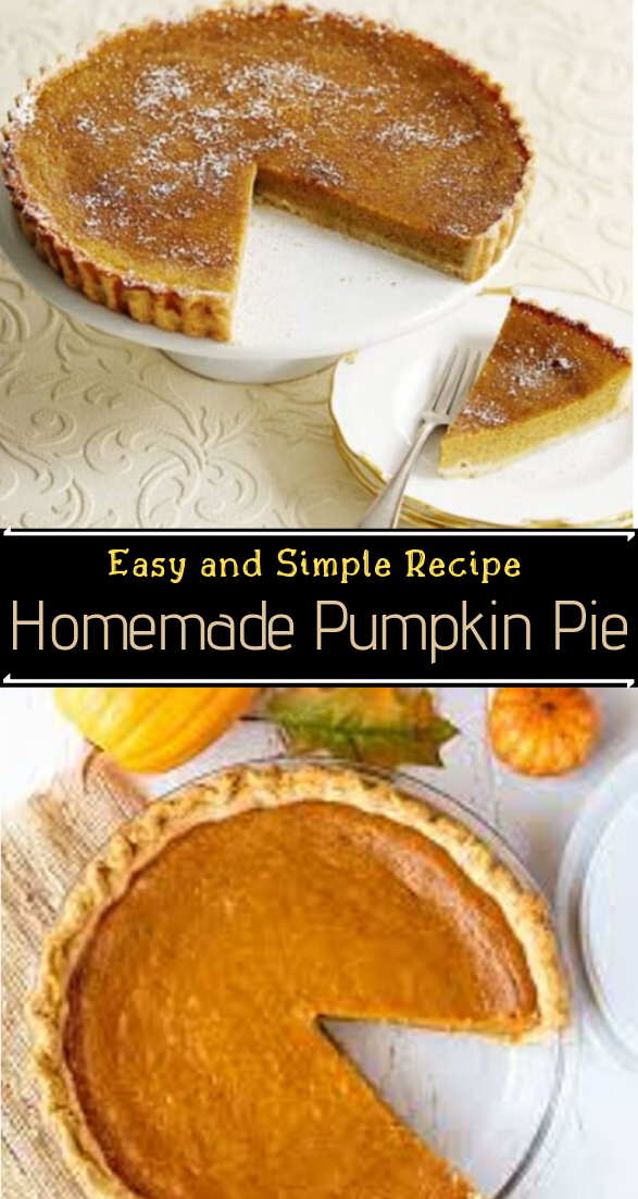 Homemade Pumpkin Pie #desserts #cakerecipe #chocolate #fingerfood #easy