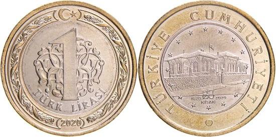 Turkey 1 lira 2020 - 100 years of the Grand National Assembly