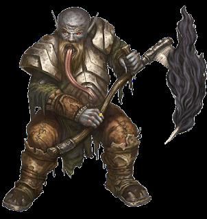 Axeholm's dwarf-ghoul castellan