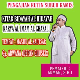 Jadwal Pengajian Rutin Ustadz Arman Aryadi di Masjid Al Kautsar Tarakan - Jadwal Kajian Islam Tarakan